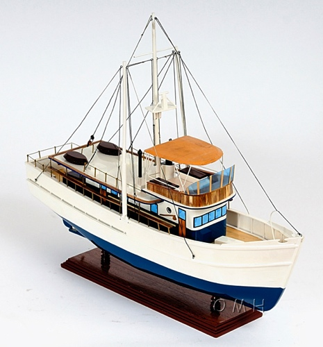 dickie walker omh handcrafted model fishing boat models b039 from. Black Bedroom Furniture Sets. Home Design Ideas