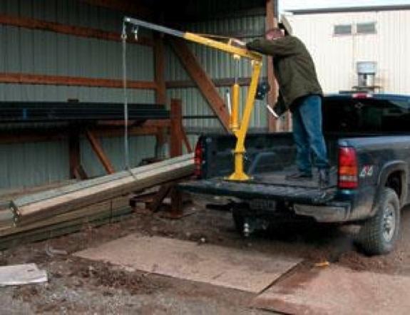 2000 Lb Galvanized Truck Hoist Davit Jib With Manual Winch