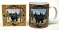 Bear Cup Coaster Set