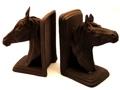 Cast Iron Rust Horse Head Bookends