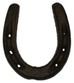 Cast Iron Rust Color Horse Shoe Set of 6