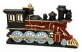 Cast Iron Painted Train Engine Doorstop