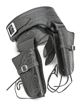Double Tooled Black Western Holster