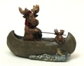 Resin Moose in Boat