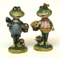 Small Gardener Frogs Set of 2