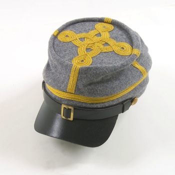 Civil War Csa Officers Kepi With Braid