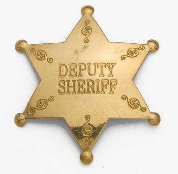 Brass Deputy Sheriff Badge