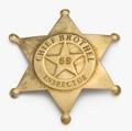 Brass Brothel Inspector Badge