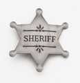 Silver Deluxe Sheriff Badge