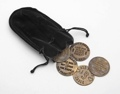 Cat House Tokens 5 With Black Suede Carrying Bag