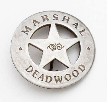 Silver Deadwood Marshall Badge