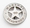 Silver Deadwood Marshall Badge