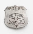 Silver Kansas City Brothel Inspector Badge