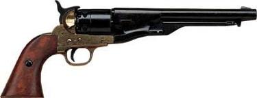 M1860 Civil War Pistol Brass Finish Non Firing Replica Gun