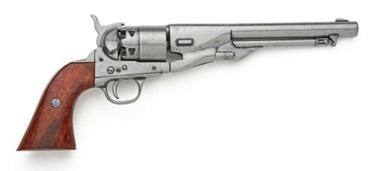 M1860 Civil War Pistol Antique Gray Finish Non Firing Replica Gun