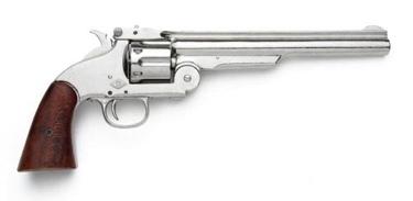 M1869 Schofield Western Pistol Nickel Finish Non Firing Replica Gun