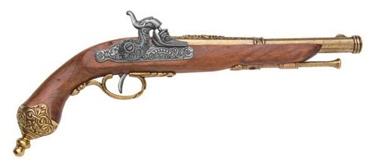Italian Percussion Dueling Flintlock Pistol  1825 Non Firing Replica Gun