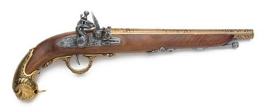 German Flintlock Pistol  18Th Century Non Firing Replica Gun