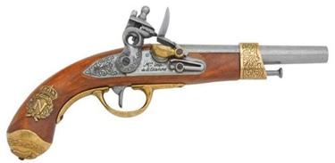 1806 Napoleonic Flintlock Pistol Non Firing Replica Gun