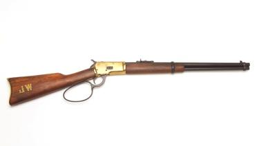 M1892 Western Rifle With Loop Lever Antique Brass Finish Non Firing Replica Gun