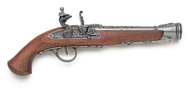 18Th Century European Flintlock Pistol Non Firing Replica Gun