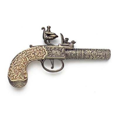 English 18Th Century Replica Flintlock Pistol Non Firing Replica Gun