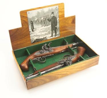 18Th Century Dueling Pistol Set Non Firing Replica