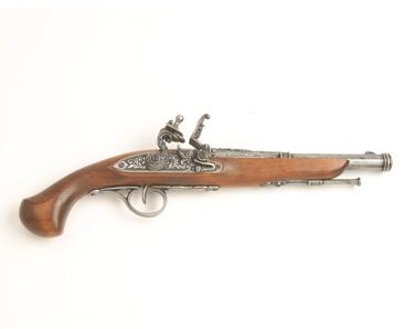 18Th Century Engraved Non Firing Flintlock Pistol