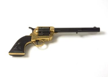 M1873 Replica Old West Revolver Cavalry Barrel Dual Tone Finish Non Firing Replica Gun