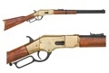 M1866 Western Rifle With Lever Action Brass Finish Non Firing Replica Gun