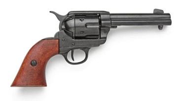 M1873 Old West Revolver Black Finish Non Firing Replica Gun