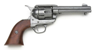 1873 Fast Draw Old West Replica Pistol Antique Gray Finish Non Firing Replica Gun