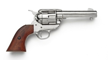 M1873 Fast Draw Old West Revolver Nickel Finish Non Firing Replica Gun