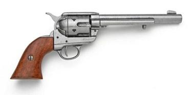 Old West Cavalry Revolver Antique Gray Finish Non Firing Replica Gun