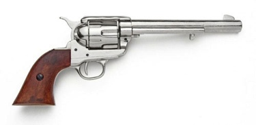M1873 Old West Cavalry Revolver Nickel Finish Non Firing Replica Gun