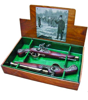 British Dueling Flintlock Boxed Set Non Firing Replica Gun