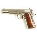 M1911 Govt Semi Auto Nickel Finish Non Firing Replica Gun