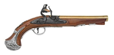 George Washington Flintlock Pistol Non Firing Replica Gun