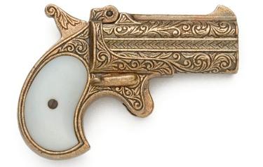 1866 Double Barrel Derringer Non Firing Replica Gun