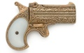 1866 Double Barrel Derringer Non Firing Replica Gun