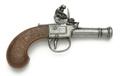 Mens Pocket Flintlock Pistol Gray Finish Non Firing Replica Gun