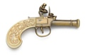 Ladies Pocket Flintlock Pistol Gold Finish Non Firing Replcia Gun