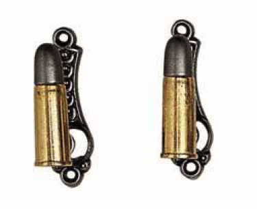 Bullet-Style Gun Hanger With Gold/Silver Finish