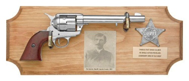 Pat Garrett Framed Set Non Firing Replica Gun