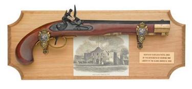 The Alamo Collection Framed Set Non Firing Replica Gun