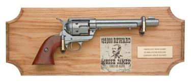 Jesse James Collection Framed Set Non Firing Replica Gun