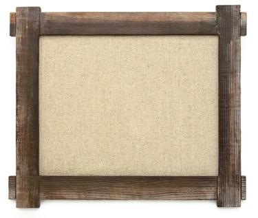 Rustic Burlap-Back Frame