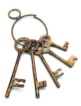 Western Jailers Brass Keys
