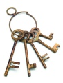 Western Jailers Brass Keys