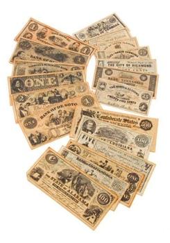 Set Of 3 Civil War Currency